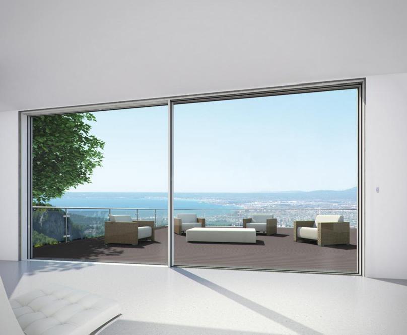 Porta finestra scorrevole brescia vetrate schuco - Porta finestra alluminio ...