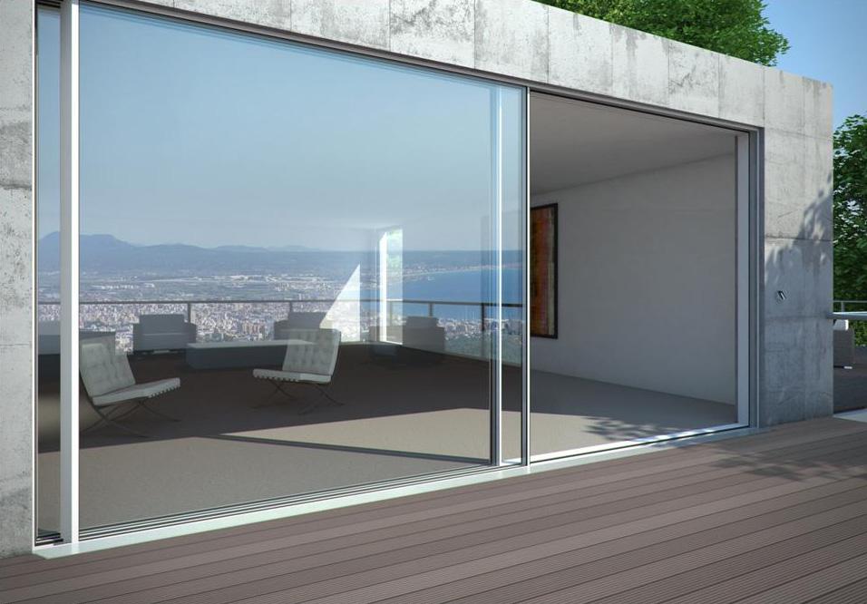 Porta finestra scorrevole brescia vetrate schuco for Infissi esterni in alluminio prezzi