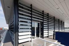 Pareti vetrate esterne brescia frangisole in alluminio - Pareti vetrate esterne ...